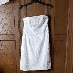 White House Black Market Strapless White Dress